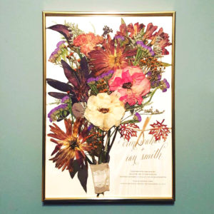 framed floral preservation