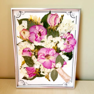 Framed wedding bouquet preservation
